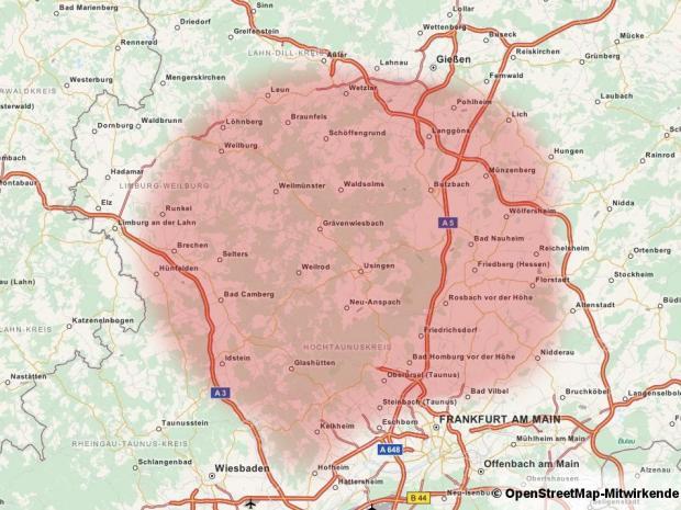 Der Flüssiggas Einkaufsring ist in Teilen von Taunus und Wetterau aktiv